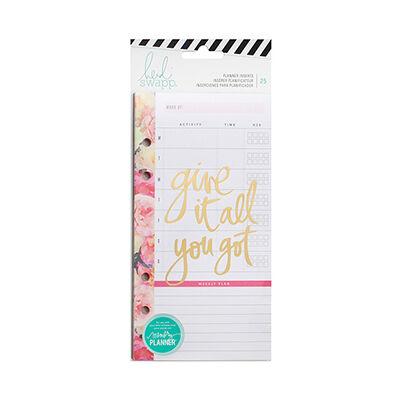 Heidi Swapp - Memory Planner 2017 - Planner Inserts - Personal - Meal Plan