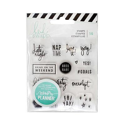 Heidi Swapp - Memory Planner 2017 - Clear Stamps Weekend