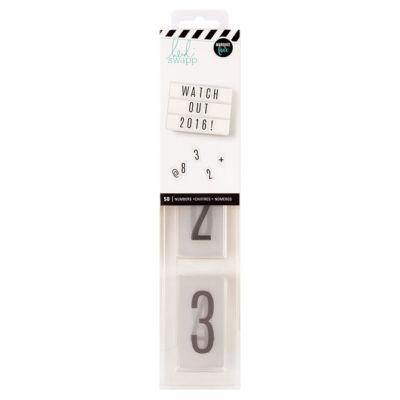 Heidi Swapp - Lightbox Black Number Inserts