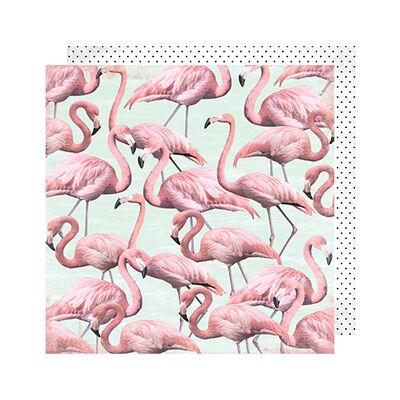 Heidi Swapp - Pineapple Crush 12x12 Paper - Flamingle