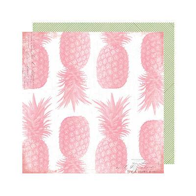 Heidi Swapp - Pineapple Crush 12x12 Paper - Pineapple Crush