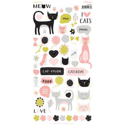 My Mind's Eye - Meow 6 x 12 Sticker Sheet