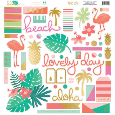 My Mind's Eye - Palm Beach Chipboard