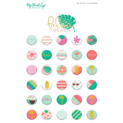 My Mind's Eye - Palm Beach Puffy Stickers