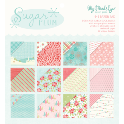 My Mind's Eye - Sugar Plum 6 x 6 Paper Pad
