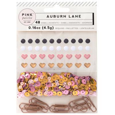 Pink Paislee - Auburn Lane Mixed Embellishments