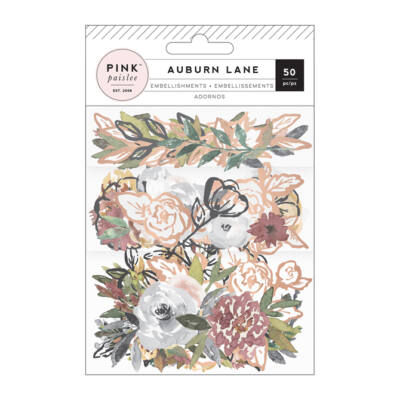 Pink Paislee - Auburn Lane Vellum Mixed Floral
