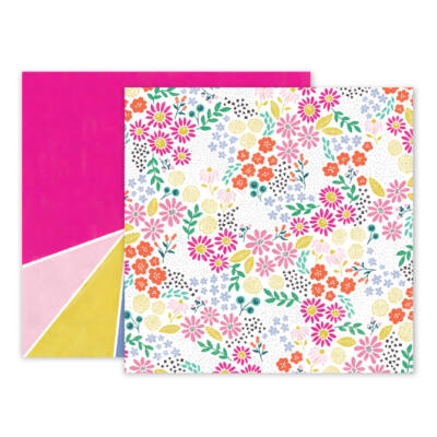 Pink Paislee - Paige Evans Oh My Heart 12 x 12 Double Sided Paper 13