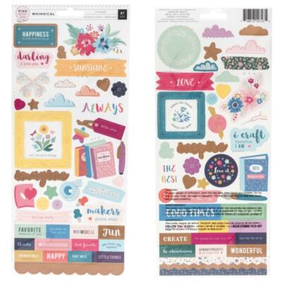Pink Paislee - Paige Evans Whimsical 6x12 Stickers (87 Piece)