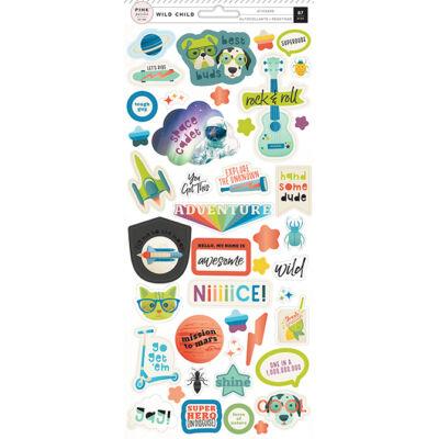 Pink Paislee - Wild Child 6x12 Stickers - Boy