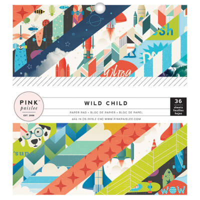 Pink Paislee - Wild Child 6x6 Paper Pad - Boy
