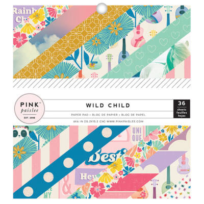 Pink Paislee - Wild Child 6x6 Paper Pad - Girl