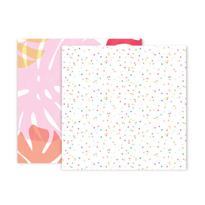 Pink Paislee - Confetti Wishes 12x12 Paper - 3