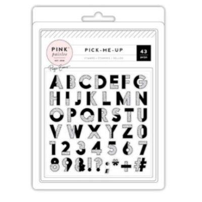 Pink Paislee - Paige Evans - Pick Me Up Acrylic Stamp Set