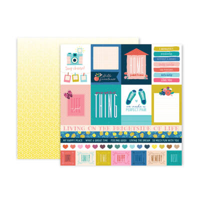 Pink Paislee - Paige Evans - Pick Me Up 12x12 Patterned Paper 1