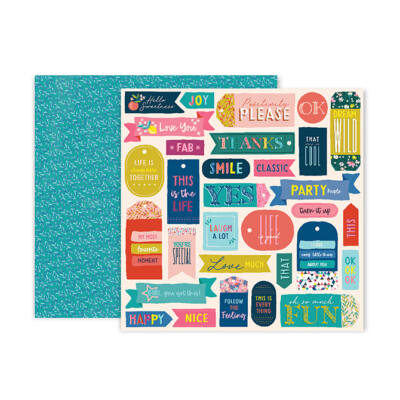 Pink Paislee - Paige Evans - Pick Me Up 12x12 Patterned Paper 13