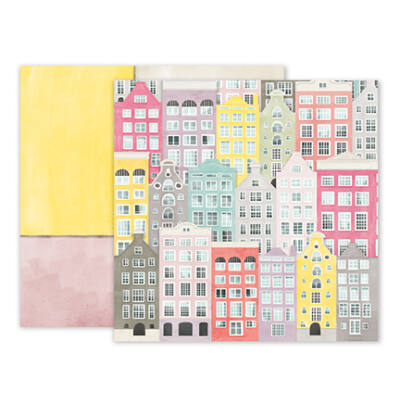 Pink Paislee - Paige Evans - Take Me Away 12 x 12 Double Sided Paper - 13