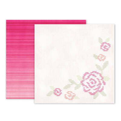 Pink Paislee - Paige Evans - Take Me Away 12 x 12 Double Sided Paper - 14