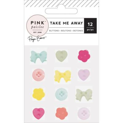 Pink Paislee - Paige Evans - Take Me Away Buttons