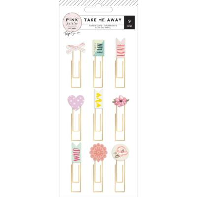 Pink Paislee - Paige Evans - Take Me Away Epoxy Paper Clips