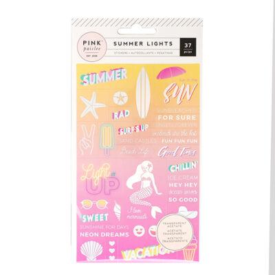 Pink Paislee - Summer Lights Acetate Stickers