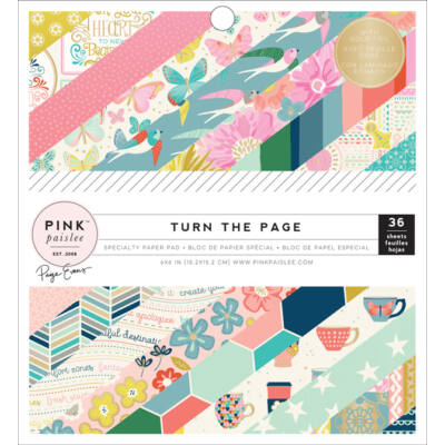 Pink Paislee - Paige Evans - Turn The Page 6x6 Paper Pad