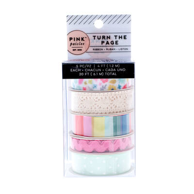 Pink Paislee - Paige Evans - Turn The Page Ribbon Set Segítség