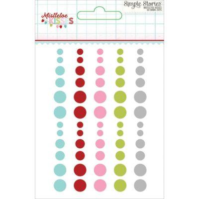 Simple Stories - Mistletoe Kisses Enamel Dots