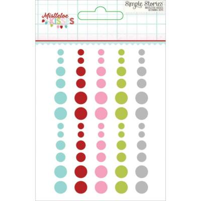 Simple Stories - Mistletoe Kisses Enamel Dots