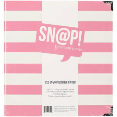Simple Stories - SNAP 6 x 8 Designer Binder - Pink