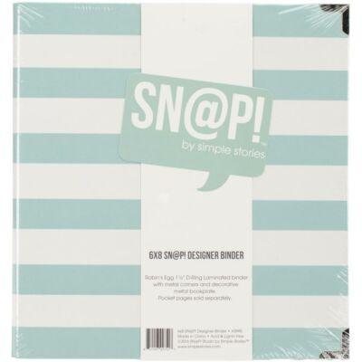 Simple Stories - SNAP 6 x 8 Designer Binder - Robin's Egg
