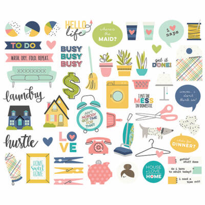 Simple Stories - Domestic Bliss Ephemera Die Cut