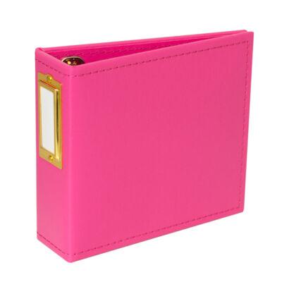 Studio Calico Handbooks 4 x 4 Faux Leather - Hot Pink