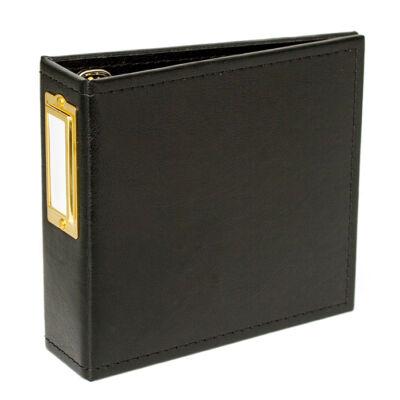 Studio Calico Handbooks 4 x 4 Faux Leather - Black