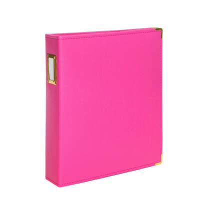 Studio Calico 7Paper Handbooks 9 x 12 Faux Leather Album - Hot Pink