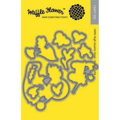 Waffle Flower Die - Happy Day