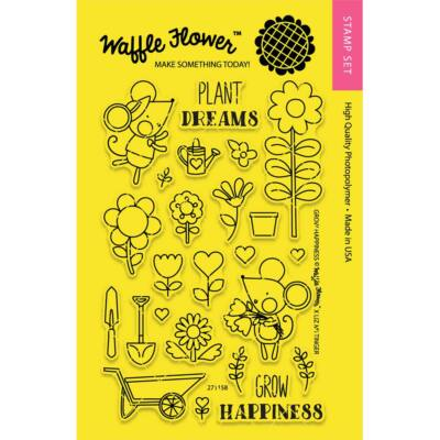 Waffle Flower Clear Stamp - Grow Happiness