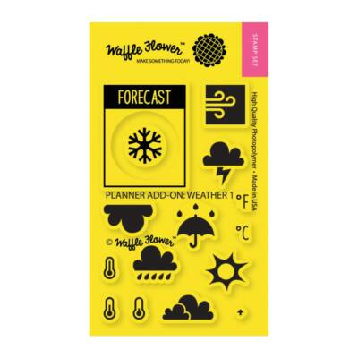 Waffle Flower Clear Stamp - Planner Add-On: Weather