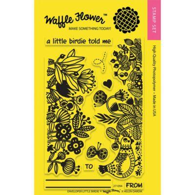 Waffle Flower Clear Stamp - Enveloper Little Birdie