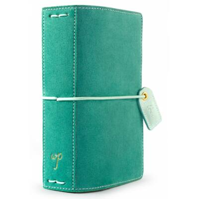 Webster's Pages Color Crush Pocket Traveler's Planner - Aspen Green Suede