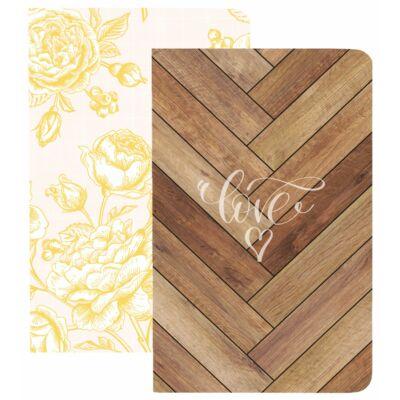 Webster's Pages Pocket Traveler's Notebooks - Flowers & Wood