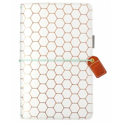 Webster's Pages Color Crush Traveler's Notebook Planner - Copper Hexagon