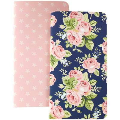 Websters Pages Color Crush Travelers Planner Notebooks - Floral & Stars