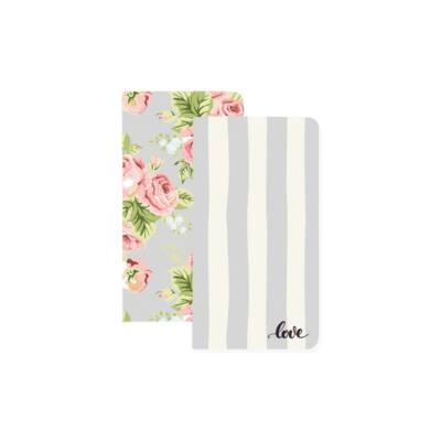 Websters Pages Color Crush Travelers Planner Notebooks - Love Stripe & Floral