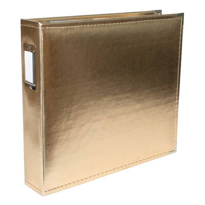 We R Memory Keepers - 12 x 12 Classic Leather Album - Gold