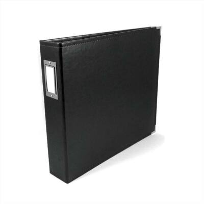 We R Memory Keepers - 12 x 12 Classic Leather Album - Black