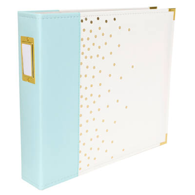 We R Memory Keepers - 12 x 12 Designer Album - Blue with Gold Dots