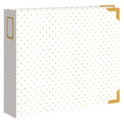 We R Memory Keepers - 12 x 12 Designer Album - Gold Dot