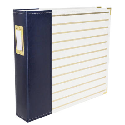 We R Memory Keepers - 12 x 12 Album Navy With Gold Stripes