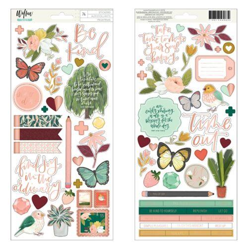 American Crafts - 1Canoe2 - Willow 6x12 Sticker Sheet (76 Piece)